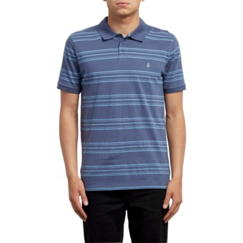 Volcom Deep Blue Wowzer Stripe Blue Polo