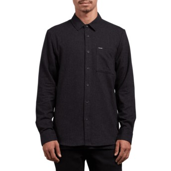 Volcom Black Caden Solid Black Long Sleeve Shirt