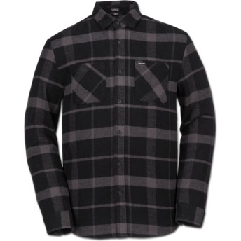 Volcom Black Shader Black Long Sleeve Check Shirt