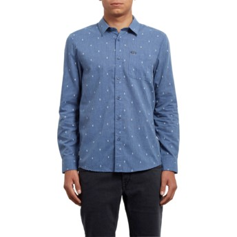 Volcom Deep Blue Gladstone Blue Long Sleeve Shirt