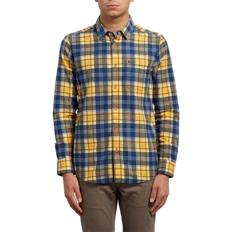 volcom-tangerine-hayden-yellow-and-blue-long-sleeve-check-shirt
