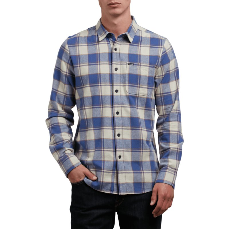 volcom-clay-caden-grey-and-blue-long-sleeve-check-shirt
