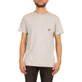 Volcom Heather Grey Stone Blank Grey T-Shirt