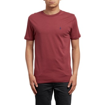 Volcom Crimson Stone Blanks Red T-Shirt