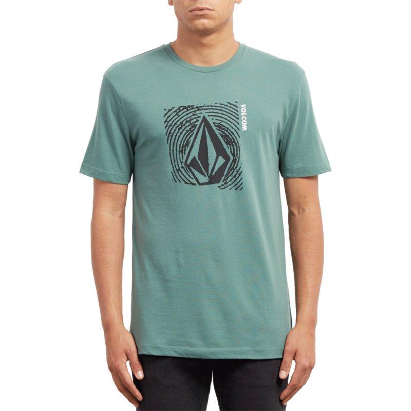 b7d290cf Volcom Pine Stonar Waves Green T-Shirt: Shop Online at Caphunters
