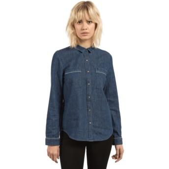 Volcom Deep Water Cham Jam Blue Long Sleeve Shirt