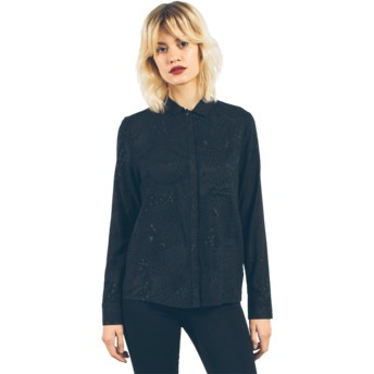 Volcom Black Space Trip Black Long Sleeve Shirt