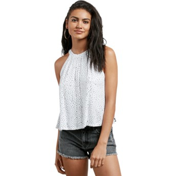Volcom Star White Mix A Lot White Sleeveless Blouse