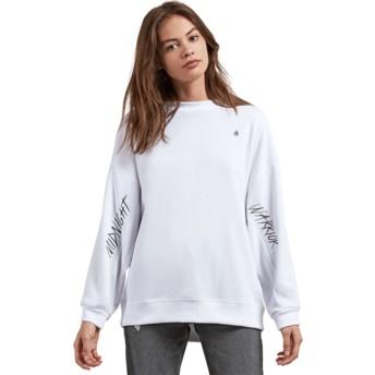 Volcom White Darting Traffic White Sweatshirt