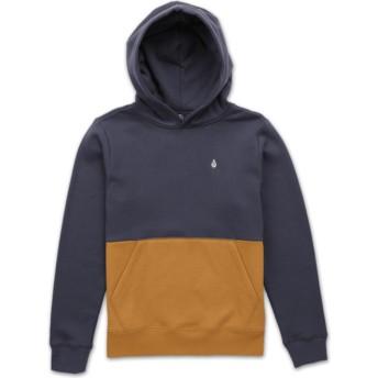 Volcom Youth Midnight Blue Single Stone Division Navy Blue Hoodie Sweatshirt