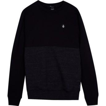 Volcom Youth Sulfur Black Single Stone Division Black Sweatshirt