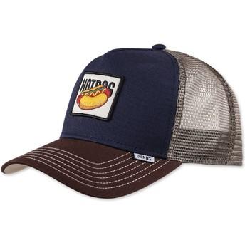 Djinns Food Hot Dog Navy Blue Trucker Hat