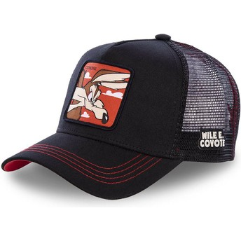 Capslab Wile E. Coyote COY1 Looney Tunes Black Trucker Hat
