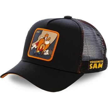 Capslab Yosemite Sam SAM1 Looney Tunes Black Trucker Hat