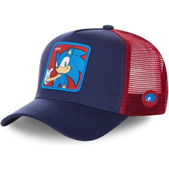 Capslab Sonic SO1 Sonic the Hedgehog Navy Blue and Red Trucker Hat