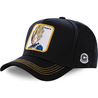 Capslab Curved Brim Vegeta Super Saiyan VE2 Dragon Ball Black Snapback Cap
