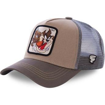 Capslab Tasmanian Devil TAZ3 Looney Tunes Brown Trucker Hat