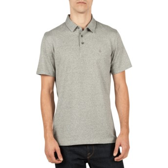Volcom Navy Heather Wowzer Grey Polo