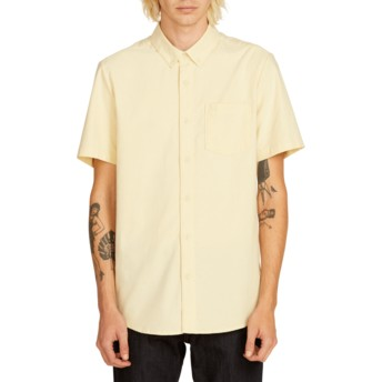 Volcom Lime Everett Oxford Yellow Short Sleeve Shirt