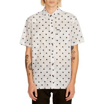 Volcom White Crossed Up White Short Sleeve Shirt