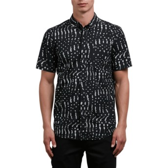 Volcom Black Drag Dot Black Short Sleeve Shirt