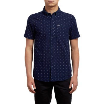 Volcom Indigo Earl Navy Blue Short Sleeve Shirt
