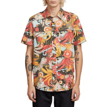 Volcom Army Psych Floral Multicolor Short Sleeve Shirt