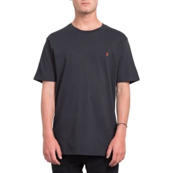 Volcom Long Line Black Stone Blank Black T-Shirt
