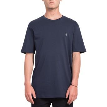 Volcom Navy Stone Blank Navy Blue T-Shirt