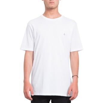 Volcom Long Line White Stone Blank White T-Shirt