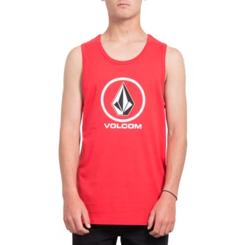 Volcom True Red Crisp Stone Red Sleeveless T-Shirt