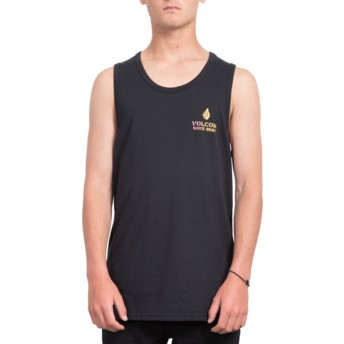 Volcom Black Peace Is Progess Black Sleeveless T-Shirt