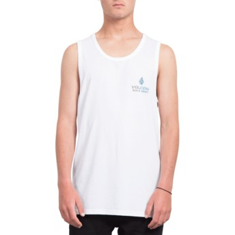 Volcom White Peace Is Progess White Sleeveless T-Shirt
