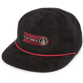 Volcom Flat Brim Black Stone Glide Black Snapback Cap