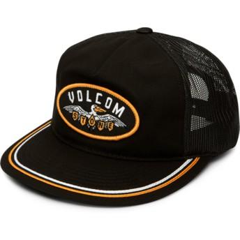 Volcom Black Hellican Cheese Black Trucker Hat