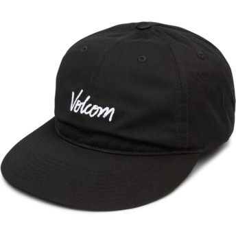 Volcom Curved Brim Black Volscripto Black Adjustable Cap
