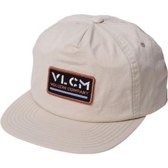 Volcom Flat Brim Almond Nora Hat Beige Snapback Cap