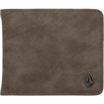 Volcom Pewter Slim Stone Grey Wallet