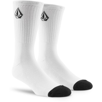 Volcom Small Logo White Full Stone White Socks