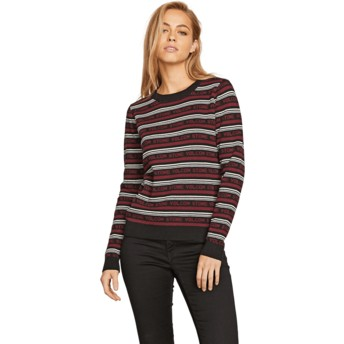 Volcom Black Combo Flip Hop Red Sweater