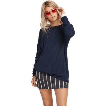 Volcom Sea Navy Simply Stone Knit Navy Blue Sweater