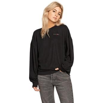 Volcom Black Fleece Pleaze Black Sweatshirt