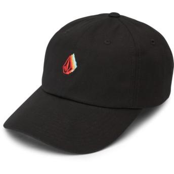 Volcom Curved Brim Black That Was Fun Black Adjustable Cap
