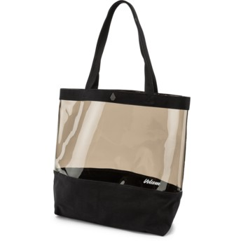 Volcom Black Seein Tote Black Handbag