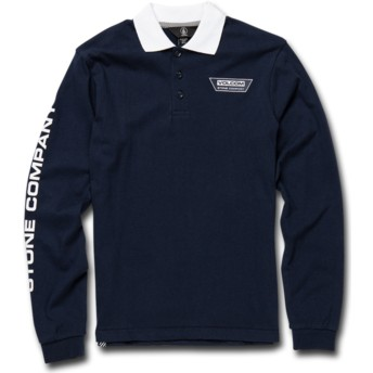 Volcom Youth Navy Belmont Navy Blue Long Sleeve Polo