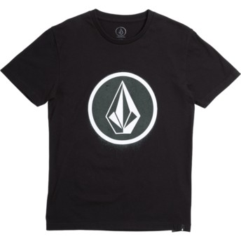 Volcom Youth Black Spray Stone Black T-Shirt