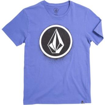 Volcom Youth Dark Purple Spray Stone Purple T-Shirt