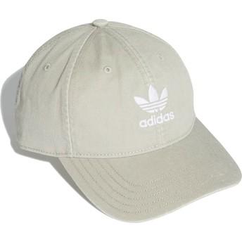 Adidas Curved Brim Washed Adicolor Grey Adjustable Cap