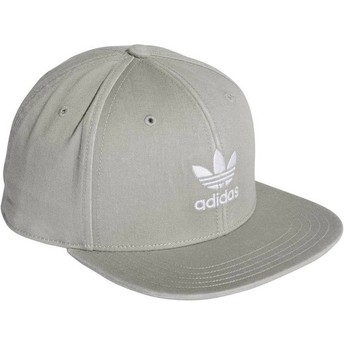 Adidas Flat Brim Trefoil Adicolor Grey Snapback Cap