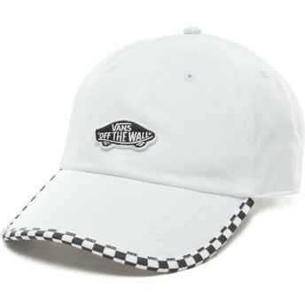 Vans Curved Brim Check It White Adjustable Cap